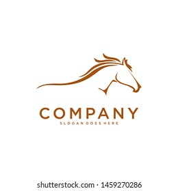 Fast speed horse logo design