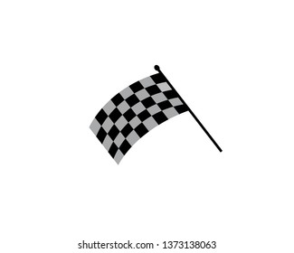 Fast Speed logo designs concept vector, Simple Racing Flag logo template - Vector