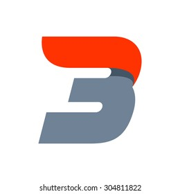 Fast speed Number three logo.