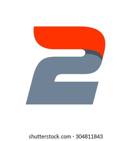 Fast speed Number two logo.
