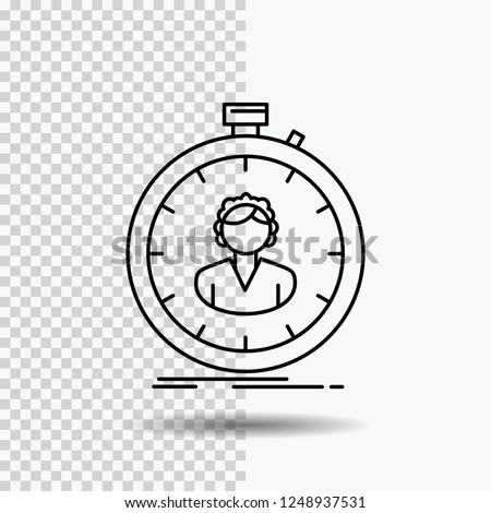 Fast Speed Stopwatch Timer Girl Line Stock Vector (Royalty