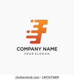 fast technology letter F logo design. speed design concept. Progress abstract creative sign. -vector
