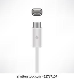 Fast Thunderbolt cable plug & socket