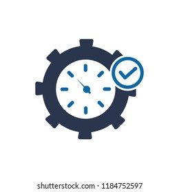 Fast Time Icon, Fast time logo, stop watch speed concept