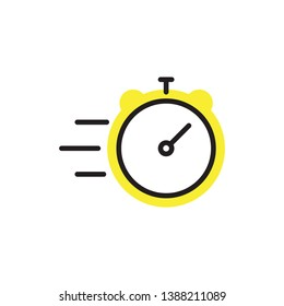 fast time icon vector design modern style