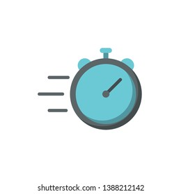 fast time icon vector flat style design
