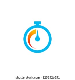 fast time icon vector in minimalist style. stopwatch icon design