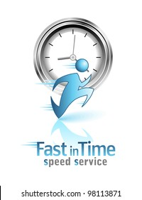 Fast in Time. Social icon. Vector sign.