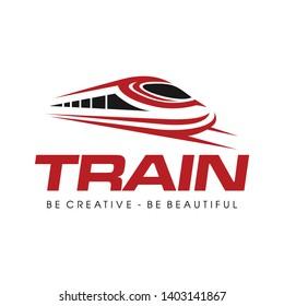 Fast Train, Electric Fast Train Logo Vector