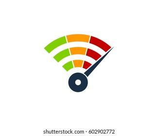 Fast Wifi Logo Design Element