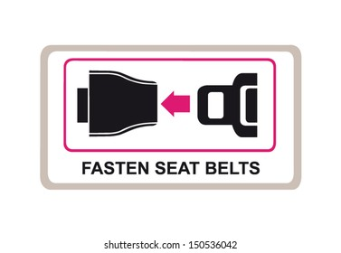 Fasten your seat belts vector icon