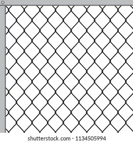 Fastening of a fence from a metal grid