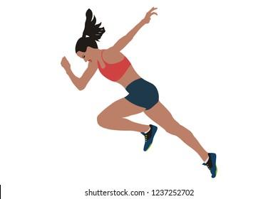 faster start running woman sprinter runner flat style