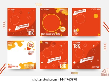 Fastfood Social Media Banner Template Collection