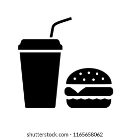 Fastfood vector icon illustration isolated on white background