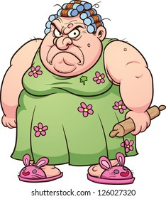 Image result for cartoon pic of old woman mad at tv