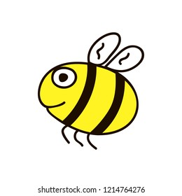 Fat bee. Childish cartoon forest wild animal. Lovely childish animal in cartoon style. Can be used for wallpapers, pattern, backgrounds surface textures