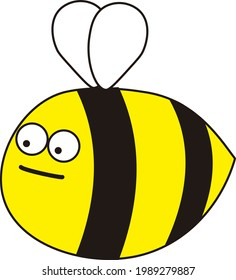 A fat bee with little wings and a serious poker face