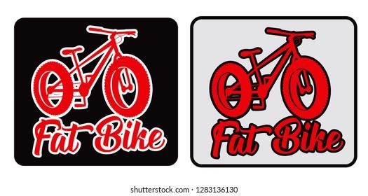 Fat bike vector design sticker illustration