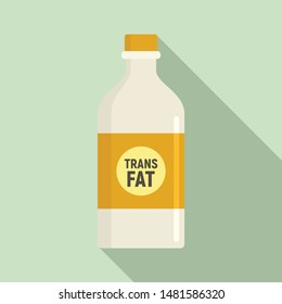 Fat bottle milk icon. Flat illustration of fat bottle milk vector icon for web design
