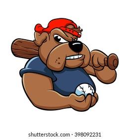 fat bulldog baseball player