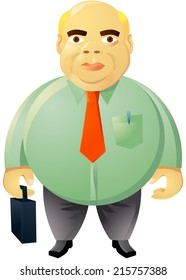 Fat businessman vector