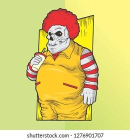 fat clown skull