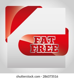 fat free design, vector illustration eps10 graphic