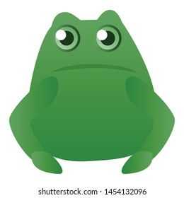 Fat frog icon. Cartoon of fat frog vector icon for web design isolated on white background