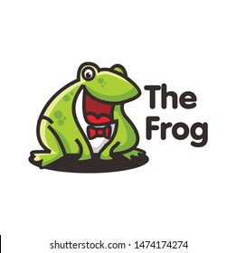 fat frog logo character template