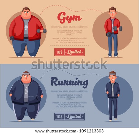 fat man fat health problems strong stock vector royalty free
