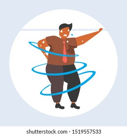 fat obese man dancing pose overweight african american sweaty guy cardio training weight loss concept flat full length