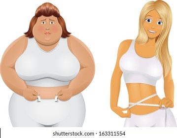 Fat woman and Beauty