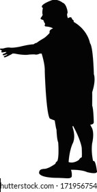 a fat woman body silhouette vector