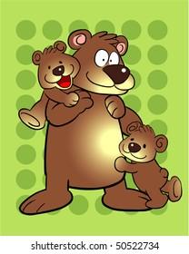 father bear and baby bear cartoon