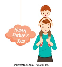 Father Carrying Son On His Shoulders, Father's Day, Family, Parent, Offspring, Love, Relationship