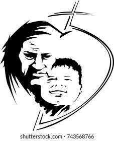 Father son love logo