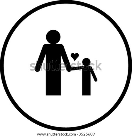 Father Son Symbol Stock Vector Royalty Free 3525609 Shutterstock