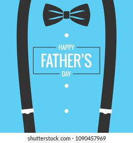 fathers day card with bow tie and suspenders background