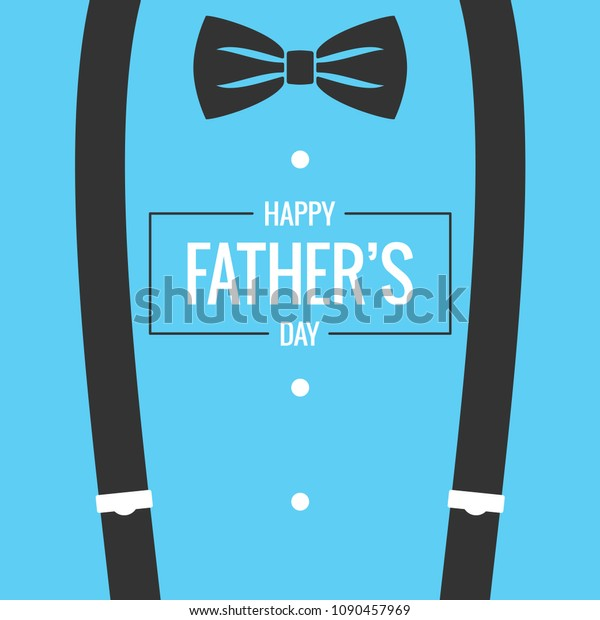 Fathers Day Card Bow Tie Suspenders Stock Vector (Royalty Free ...