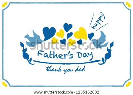 fathers day card template hand drawn stock vector royalty free