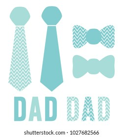 Father's Day Dad titles and neckties / bow ties