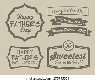 Fathers day design background with a label, vector illustration