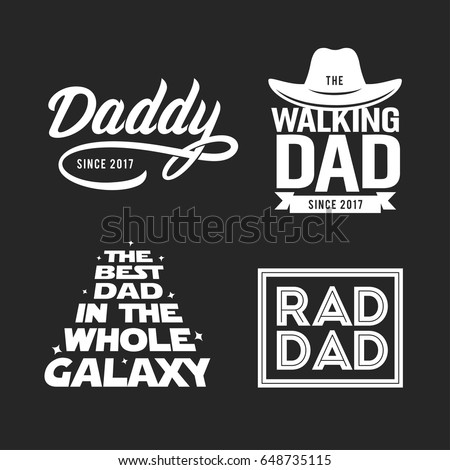 Fathers Day Gift Dad Tshirt Design Stock Vector Royalty Free