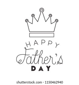 fathers day handmade font with king crown
