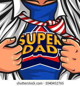 Father's day hero vector illustration