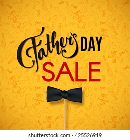 Fathers Day SALE. Happy Fathers Day background for greeting card, ad, promotion, poster, flier, blog, article, social media, marketing. Vector