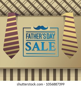 Father's day sale illustration