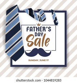 Father's Day Sale Promotion Banner Background. Vector illustration