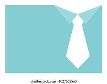 Father's Day shirt and tie card template